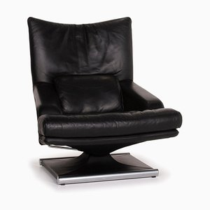 Black Leather 6500 Armchair from Rolf Benz