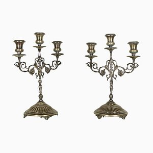 Candlesticks in Silver, Set of 2