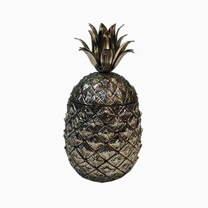Silver Plated Pineapple Ice Bucket, Italy, 1970s