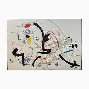 Joan Miró, Wonders Acrostic Variations In the Garden of Miro 11, Lithograph, 1975