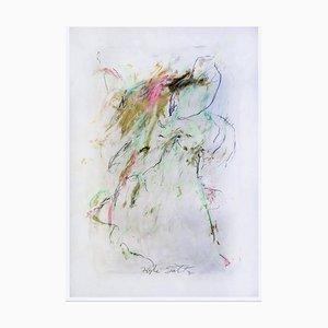 Kyte Taken, Acrylic, Graphite, Charcoal, 2020