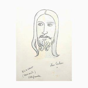 Jean Cocteau, Christ, Lithograph, 1957