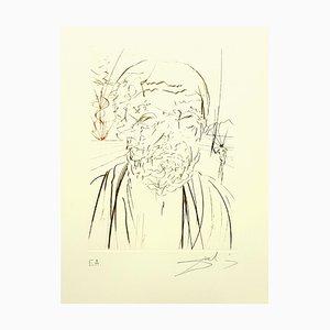 Salvador Dali, Hippocrates, Engraving, 1970