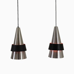 Corona Pendant Lamps by Jo Hammerborg for Fog & Mørup, 1960, Set of 2