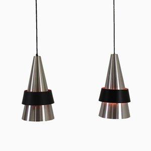 Lampes à Suspension Corona par Jo Hammerborg pour Fog & Mørup, 1960, Set de 2