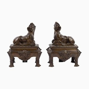 Chenets with Sphinx, Set of 2