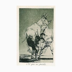 Francisco Goya, You Can Not, Etching, 1868