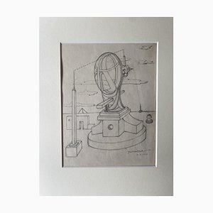 Jean Michel Sept, Methaphysical Composition, Pencil, 1947