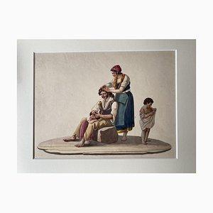 Läuse, Gouache, 19. Jahrhundert