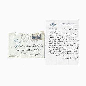 Corrado Cagli, Autograph Invitation Letter, 1938