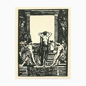 Giulio Aristide Sartorio, Figure, Woodcut, Early 20th Century