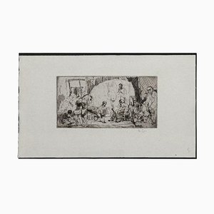 """Auguste Brouet, The Acrobats, Etching, 1930""""s"""