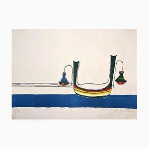 Maurilio Catalano, Gondola, Lithograph, 20th Century
