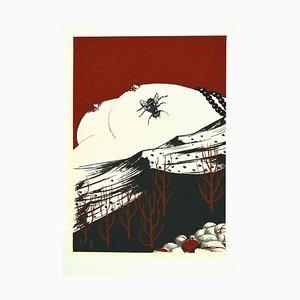 Felix Labisse, Fly, Siebdruck, 1970er