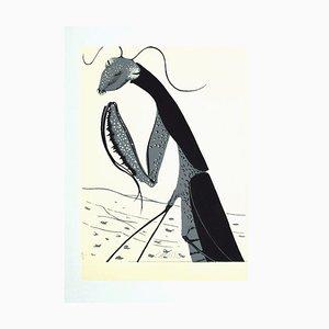 Felix Labisse, Mantis Religiosa, serigrafía, años 70