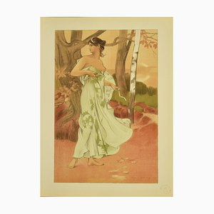 Auguste Donnay, Artemis, Lithograph, 1898