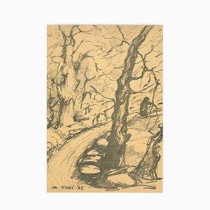 Mino Rosi, Landschaft, Bleistift, 1946