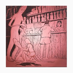 Tilo Baumgärtel, ohne Titel, 2003, Öl auf Leinwand, Neue Leipziger Schule