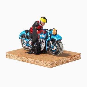 Dieter Roth, Motorradfahrer, 1969, Signierte Figurine