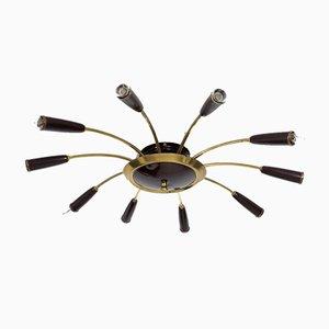 Spider Deckenlampe mit 10 Armen, 1958