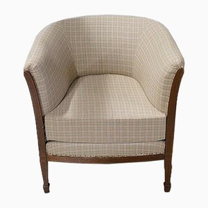 Art Deco Mahogany Lounge Chair, 1930s