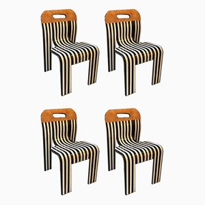 Contemporized Striped Dining Chairs by Gijs Bakker for Castelijn, Set of 4