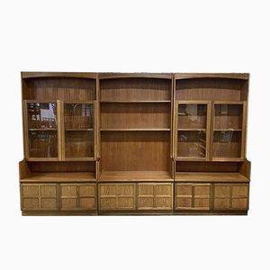 Bibliothèque 3 Modules en Teck, Angleterre, 1980s