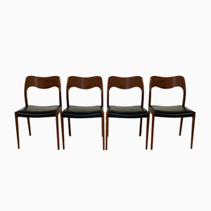 Model 71 Rosewood Dining Chairs by Niels Otto Møller, 1960s, Set of 4