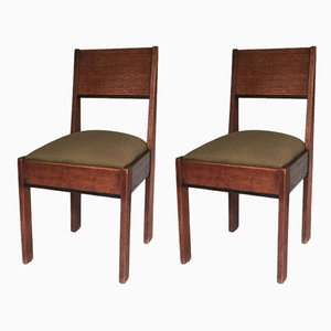 Vintage School Chairs from L.O.V. Oosterbeek, Set of 2