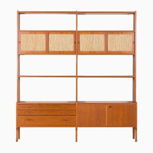 Norwegian Freestanding Teak Wall Unit, 1970s