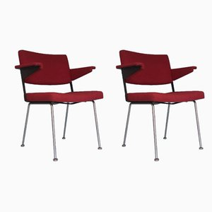 Vintage Dutch Model 1445 Armchairs by André Cordemeyer for Gispen, 1960s, Set of 2