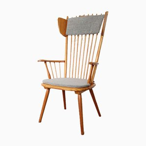 Mid-Century Wingback Armchair by Albert Haberer for Fleiner