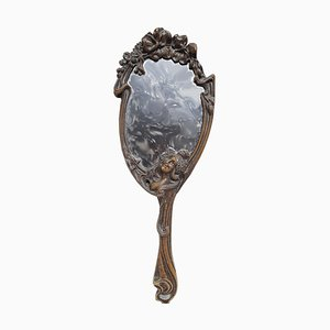 Art Nouveau Bronze Mirror