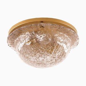 Vintage Deckenlampe aus Messing & Glas von Cosack
