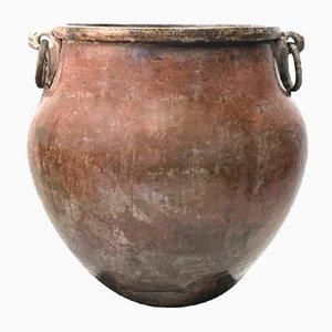 Vaso grande Tamil Nadu India in ottone