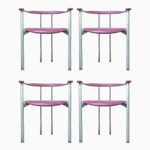 Side Chairs by Antonio Citterio for B&B Italia / C&B Italia, 1970s, Set of 4