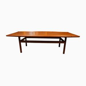 Mid-Century Vintage Dark Teak Surfboard Coffee Table by Malcolm David Walker for Dalescraft, 1960s