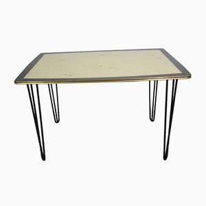 Kidney-Shaped Dining Table with a Gold Rim, 1950s