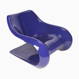 Purple Targa Lounge Chair by Klaus Uredat for Horn Collection, 1970s
