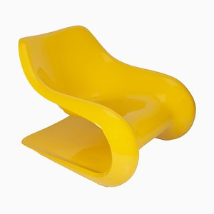 Yellow Targa Lounge Chair by Klaus Uredat for Horn Collection, 1970s