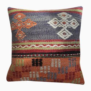 Mid-Century Turkish Wool Kilim Cushion