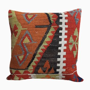 Mid-Century Turkish Wool Kilim Cushion with Insert