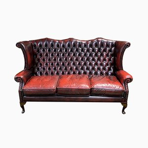 Chesterfield Leather 3-Seater Sofa, 1980s
