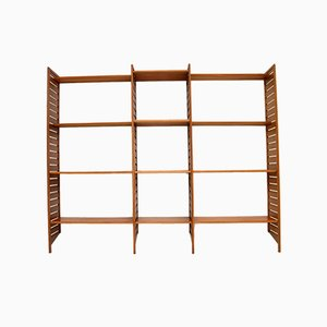 Vintage Teak Ladderax Shelving Bookcase from Staples Cricklewood, 1960s