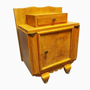Light Wood Nightstand, 1940s