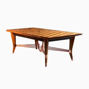 Art Deco French Maple Dining Table by Jules Leleu, 1950