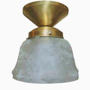 Vintage Art Deco Brass Ceiling Lamp