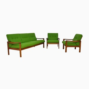 Mid-Century Danish Living Room Set from Komfort, 1960s, Set of 3
