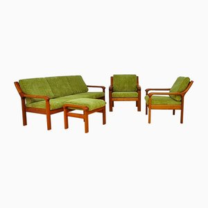 Mid-Century Danish Living Room Set from EMC Furniture A/S, 1960s, Set of 4