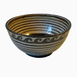 Vintage Modernist Ceramic Bowl by Henriette Duckert, 1970s